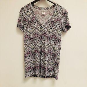 Victoria's Secret Pink Aztec print V Neck size M